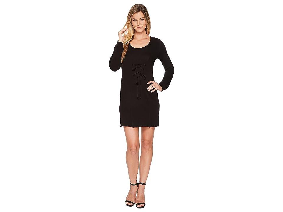Lanston Corset Long Sleeve Mini Dress (Black) Women