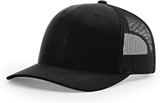 RICHARDSON 112 Trucker OSFA Baseball HAT Ball Cap Black