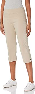 RUBY RD. womens Pull-on Super Stretch Solar Millennium Tech Cropped Capri Pants
