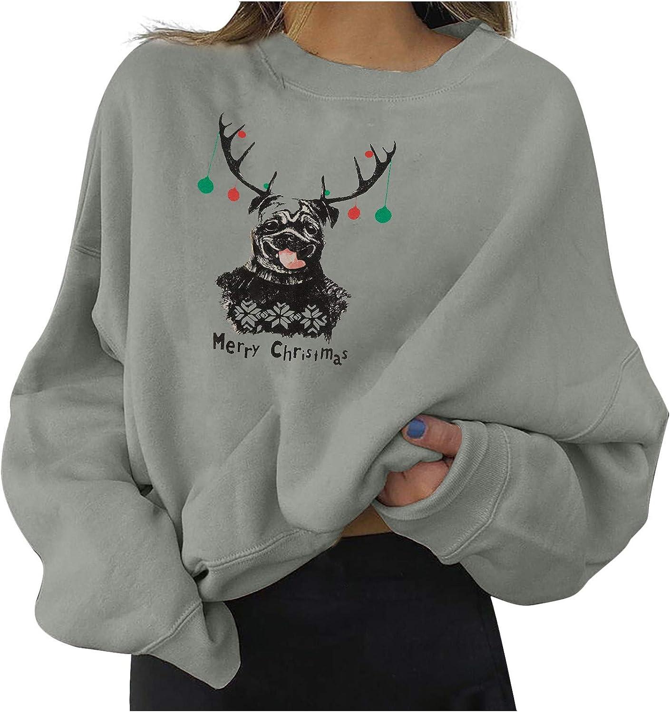 Max 77% OFF Lazapa Sales Oversized Sweatshirts for Women Christmas Merry Reindeer