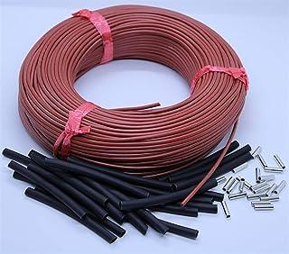 DZF697 1pc 220V 12K Plancher Chaud en Fibre de Carbone Fil de Chauffage câble Chauffage Infrarouge (Taille : 100m)