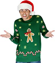 Morph Men's Digital Dudz Gingerbread Snack Ugly Christmas Sweater