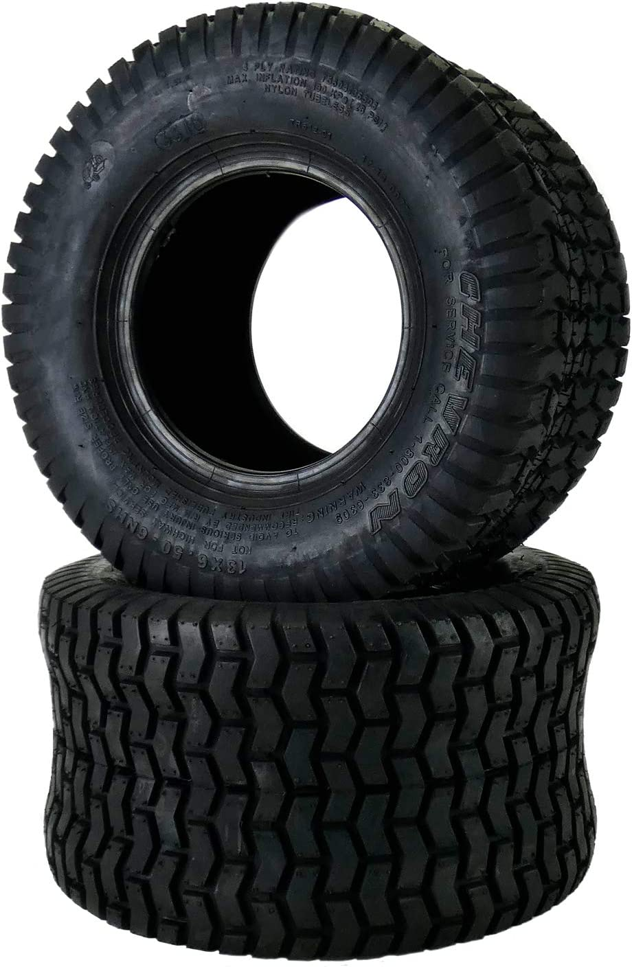 Deestone Two 13x6.50-6 Turf Lawn Tire Set of Two