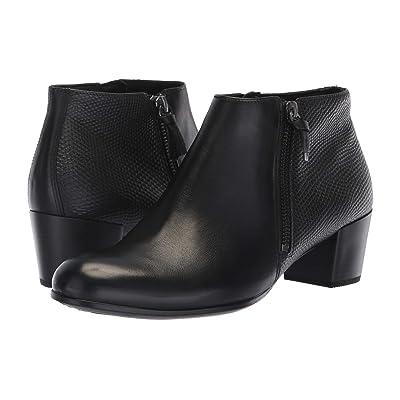 ECCO Shape M 35 Ankle Boot (Black/Black Cow Leather) Women