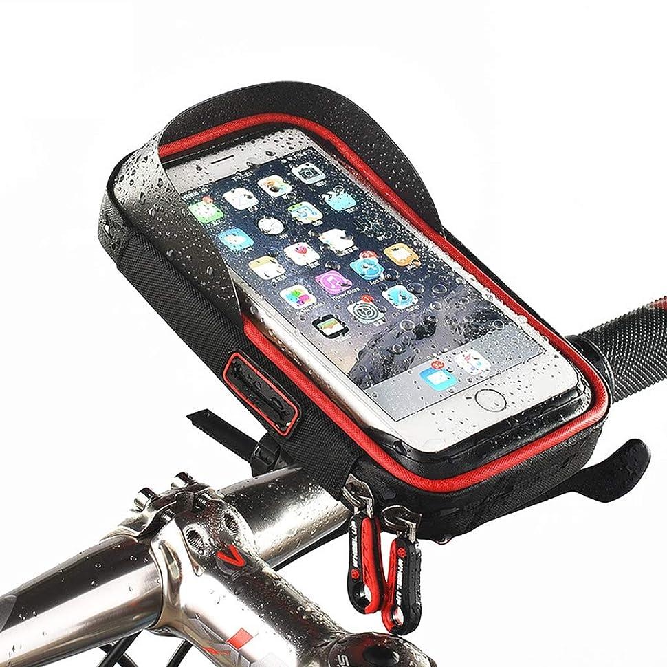 腹痛反対したレオナルドダZywtrade 自転車用携帯電話バッグ トップチューブバッグ 自転車フレームバッグ 防水タッチスクリーン 自転車用フロントバッグ 6インチ携帯電話用