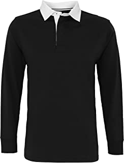 Asquith & Fox Mens Classic Fit Long Sleeve Vintage Rugby Shirt