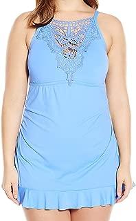 Women's Plus-Size Venise One Piece Swimsuit with Lace Applique