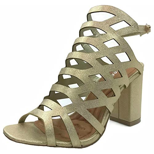 47781b82d18e Wee Collection Womens Open Toe Wedge Sandal Ankle Strap Over Toe Mid High  Heel