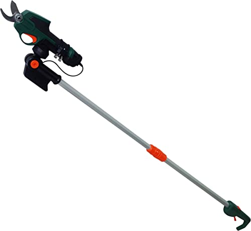 Scotts Outdoor Power Tools PR17216PS 7.2-Volt Lithium-Ion Cordless Rechargeable Power Pruner with Extension Pole, Green