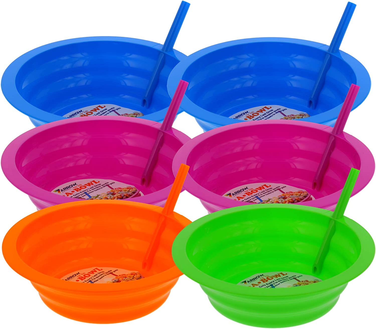 Arrow Sip-A-Bowl with Built-In Straw Sale SALE% OFF 22oz BPA F - Max 63% OFF Bowl Set 6pk