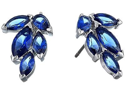 Swarovski Louison Stud Pierced Earrings (CZ Sapphire Blue Dark) Earring
