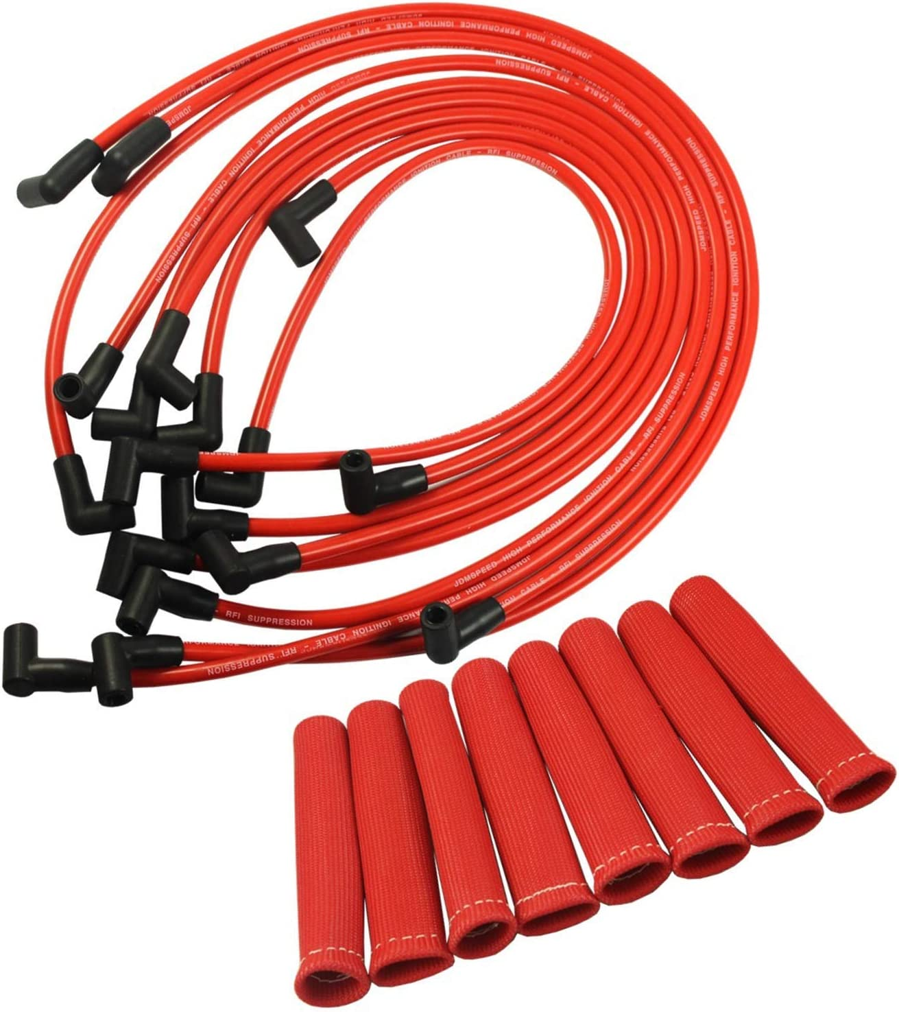 JDMSPEED New Plug Wires Set Directly managed store unisex Bundle Shield Protec Boots with Heat