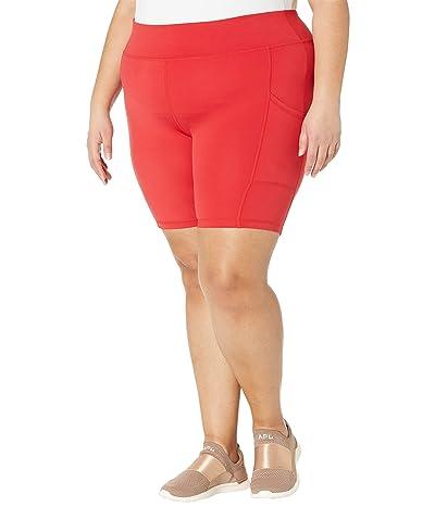 HUE Plus Size Active Pep Talking Bike Shorts (Pulse Red) Women