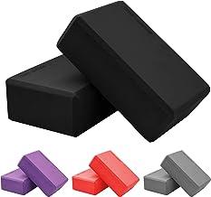 SportVida Yogablok van Eva-schuim, set van 2 stuks, yogablokken met schuim, voor fitness en pilates, hulpmiddel voor de tr...