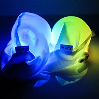 GloFX LED Sock POI Set: Juego de 2 Bolas de luz de Modo 9 Artes de Flujo Brillante