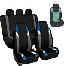 FH Group Supreme Modernistic Full Set High Back car seat Covers, Airbag & Split Ready, w. Gift, Blue/Black-Universal fit for Cars, auto, Trucks, SUV