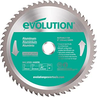 Evolution Power Tools 230BLADEAL Aluminum Cutting Saw Blade, 9-Inch x 80-Tooth
