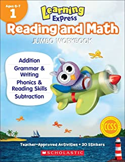 Learning Express Reading and Math Jumbo Workbook Grade 1