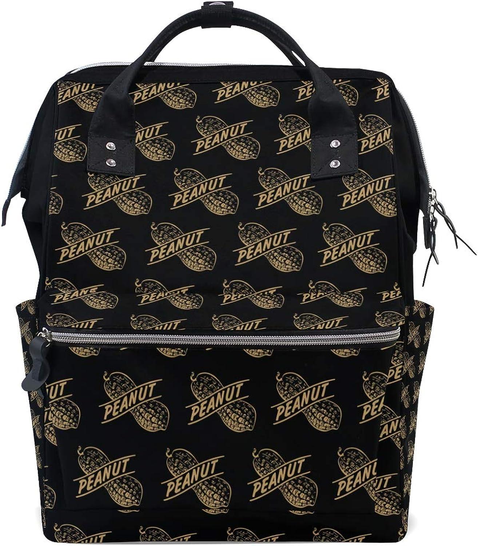 FANTAZIO Backpacks Amazing Cute Peanut Pattern School Bag Canvas Daypack