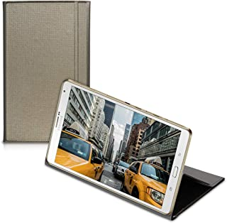 جراب من الجلد الصناعي من kwmobile متوافق مع Samsung Galaxy Tab S 8.4 T700 / T705 - جراب قلاب أنيق للكمبيوتر اللوحي على شكل...