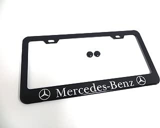 1 pc Mercedes-Benz Black Metal License Plate Frame Tag Holder