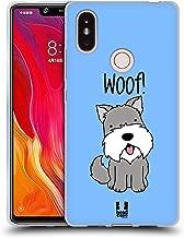 Head Case Designs Schnauzer Happy Puppies Soft Gel Case Compatible for Xiaomi Mi 8 SE
