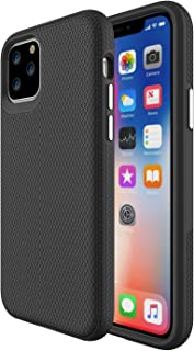 ORIbox Carbon Fiber case for iPhone 11 pro max Case, Basketball Stripe, Shock Protection, Enhanced Grip, Wireless Charging Compatible,Black