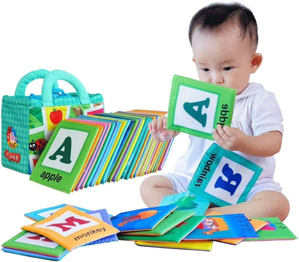 LALABABY Soft Alphabet Cards with Cloth I Product Raleigh Mall Bag Babies for Storage