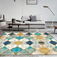 Vintage Area Rug Large Soft Touch Printed Geometric Morocco Floor Mat Large Carpet for Living Room Bedroom (Rectangular,60...