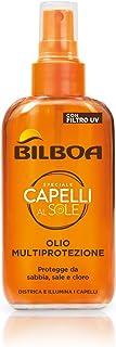 Bilboa Olio Solare Capelli con Filtro UV, Filtro Multiprotezione con Olio d'Argan, Protegge da Sabbia, Sale e Cloro, Distr...