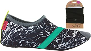 FitKicks Womens Shoes with FITWRIST Wallet, Graphite Shoe, Black Wallet