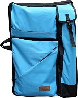 """Artoop Water-resistant Artist Portfolio Tote and Backpack Canvas Bag for Art Supplies Storage and Traveling Size 26""""x19.4"""" Blue Color"""