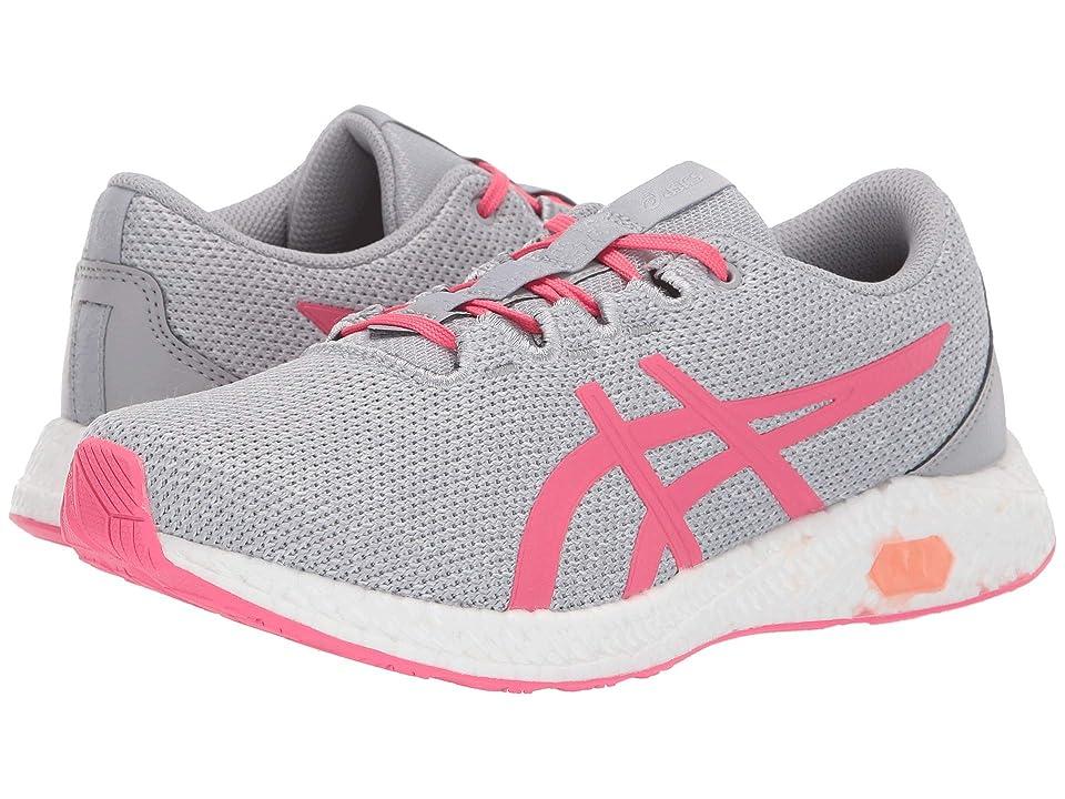 ASICS Kids Hypergel-yu GS (Big Kid) (Mid Grey/Pink Cameo) Girls Shoes