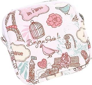 DZT1968 Women Girl Cute Sanitary Pad Organizer Holder Napkin Towel Bags (Pink)
