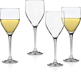 Godinger Wine Glasses Goblets, Stemmed Beverage Cup - European Made - 12oz, Set of 4