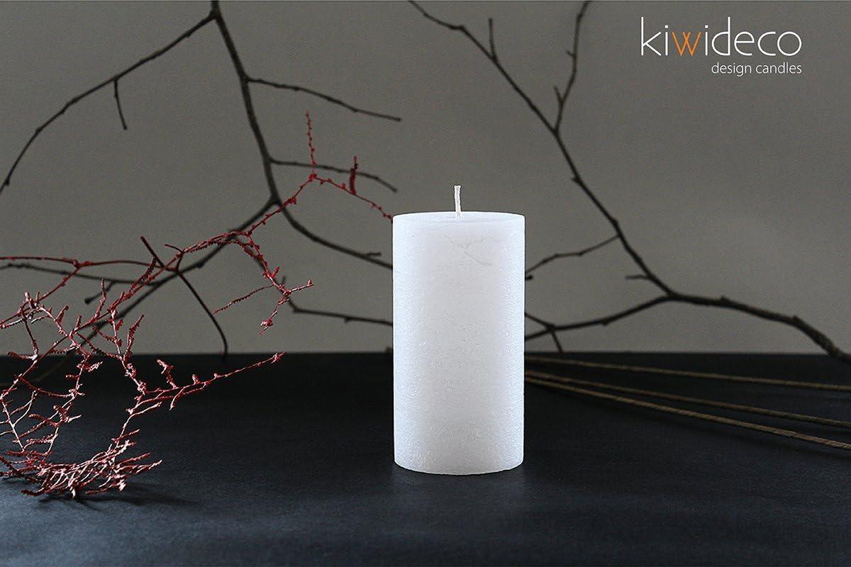 - Rustique Bougie Pilier Set Champagne Fabriqu/é /à la Main. Kiwideco Handmade Rustic Pillar Candles Set Fonte Chaude Cire color/ée