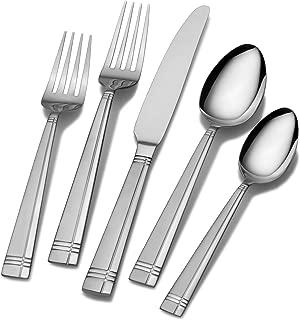 Pfaltzgraff 5112363 Dawson Frost 20-Piece Stainless Steel Flatware Set, Service for 4