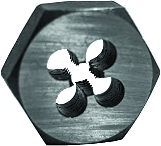 Century Drill & Tool 96205 High Carbon Steel Fractional Hexagon Die, 3/8-16 NC