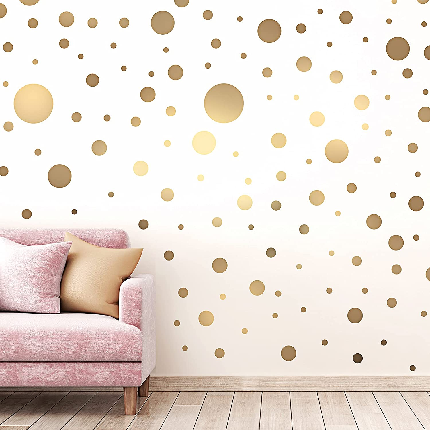 264 Pieces Polka Dots Year-end annual account Ranking TOP18 Wall Sticker Circle Be for Decal Kids