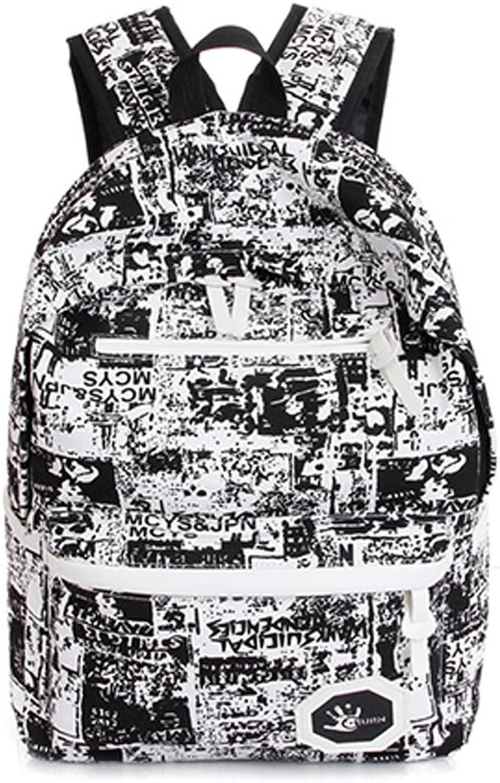 Zhrui Netter Netter Netter Wasserdichter Unisexrucksack für Schule, Schulbücher, Freizeit für Jungen und Mädchen, zufällige Farben-Graffiti-Tasche (Farbe   Schwarz, Größe   Einheitsgröße) B07GQM5RS9   Ausgezeichneter Wert 02e0c6