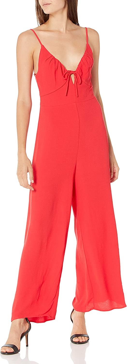 ASTR the label Women's Mail order Sleeveless Scoop Cicley Wide Outstanding Leg Jum Neck