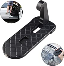 AHongem (Upgraded 2.0) Vehicle Hook U Shaped Slam Latch Doorstep Folding RV Step Ladder Pegs with Safety Hammer Doorstep Foot Pegs Easy Access for Car Rooftop Roof-Rack Truck, SUV, Jeep
