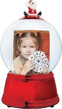 Santa Photo Snow Globe (Red)