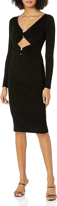 GUESS Women's Long Sleeve Pierced Gianna Sale SALE% depot OFF Rib Dress Sweater