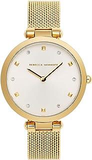 Rebecca Minkoff Women's Quartz Watch with Stainless Steel Strap, Gold, 13 (Model: 2200300)