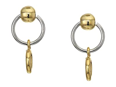 Rebecca Minkoff Interlocking Ring and Ball Earrings (Gold/Rhodium 1) Earring