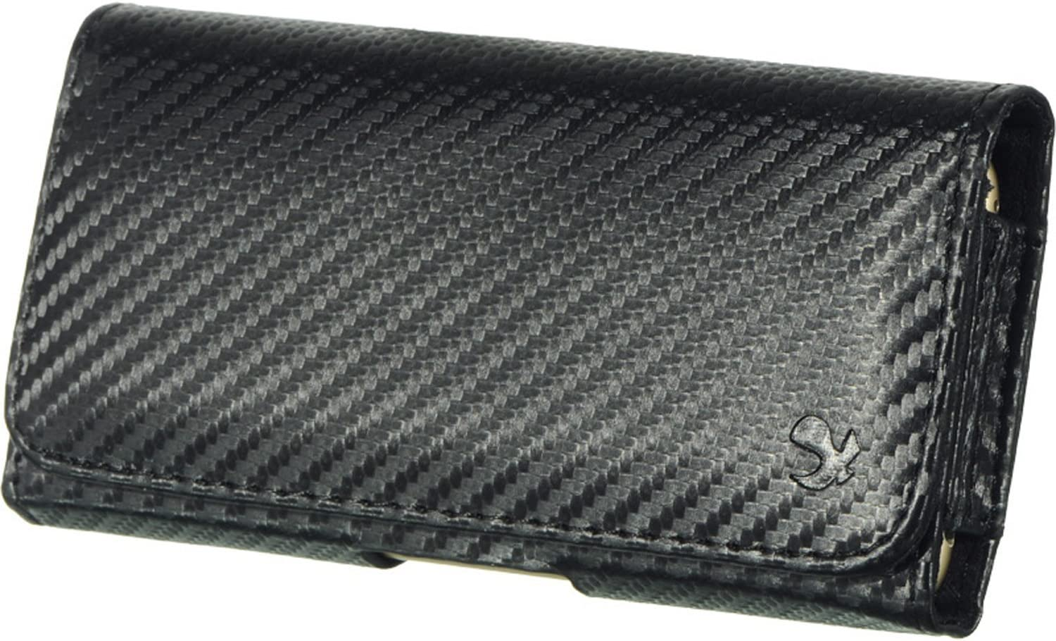 Carbon Fiber Horizontal Holster Belt Clip Carrying Case for OnePlus Nord N10 5G, Nord N100, 8T Plus 5G, 8T, Nord, 8, 8 5G