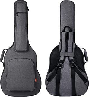 CAHAYA Reinforced Guitar Bag Thick Sponge Overly Padded Extra Protection Guitar Gig Bag with 5 Pockets,Neck Cradle,Back Hanger Loop for 40 41 Inches Acoustic Classical Guitar