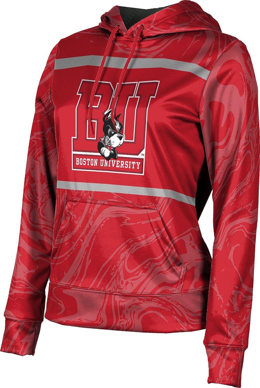 ProSphere Boston University Girls' Pullover Hoodie, School Spirit Sweatshirt (Ripple)