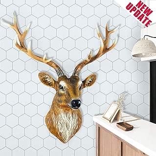 """Grey and White Wallpaper White Hexagon Wallpaper Peel and Stick Wallpaper Removable Wallpaper Self Adhesive Wallpaper White Trellis Wallpaper Hexagon Wallpaper Shelf Liner Vinyl Wallpaper 17.7""""×78.7"""""""